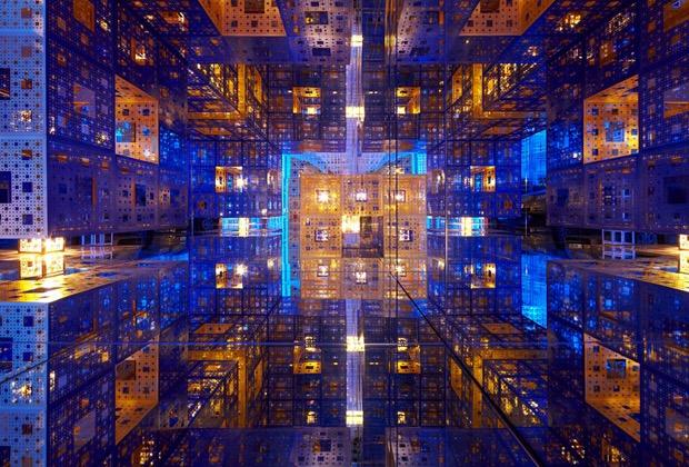 "Serge Salat's ""Beyond Infinity"" art installation."